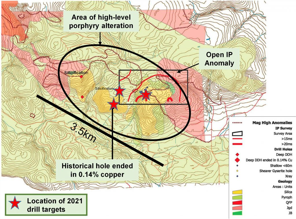 Pemberton Explo Map with targets